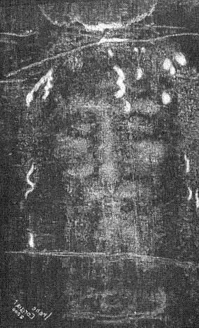 La Sindone d'Irene negativa è la stessa immagine che apparve al fotografo Secondo Pia nel 1898: un positivo, cioè la matrice del volto (foto Giovanni Maria Lolli)