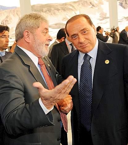 Lula con Berlusconi (Ap)