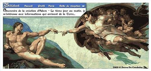 Le foto brula in Rete: sopra Sarkozy nell'affresco di Michelangelo