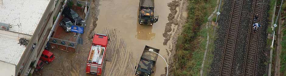 Alluvione in Siclia. Ottobre 2009. Foto Corriere.it
