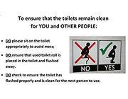 Piedi a terra e non sulla tazza del water» Nel campus le regole per ...