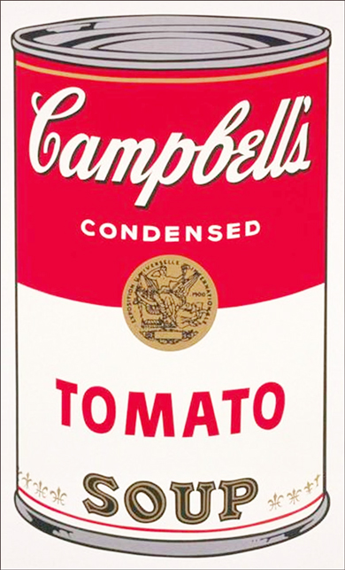 Campbell rif warhol nell 39 anniversario for Barattoli di zuppa campbell s