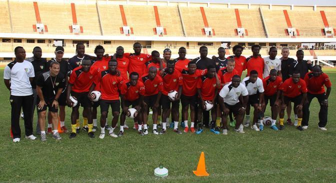 Una foto della nazionale del Togo scattata a Lome il 31 dicembre scorso (Epa)