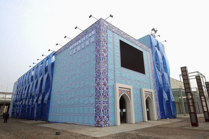 Il padiglione dell'Uzbekistan (Reuters)