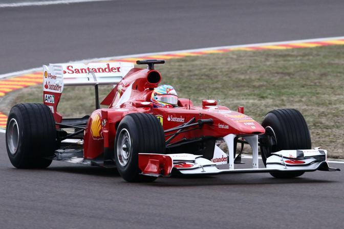 La F150 in pista a Fiorano (Ansa)