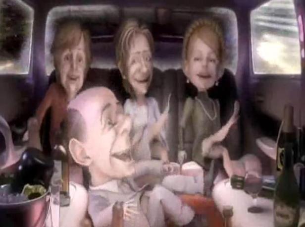 La tv russa scherza su Silvio playboy, nella parodia finiscono anche Merkel, Clinton e Timoshenko