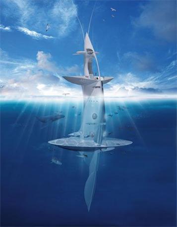 È stata definita «la prima nave verticale della storia» e il suo compito principale sarà quello di scoprire i segreti della flora e della fauna sottomarina. SeaOrbiter è l'avveniristico progetto dell'architetto francese Jacques Rougerie. Si tratta di una stazione oceanografica fluttuante, in alluminio e a forma di pinna, alta ben 51 metri. La parte più grande della nave, che assomiglia a una stazione spaziale, sarà immersa per 31 metri nelle acque.