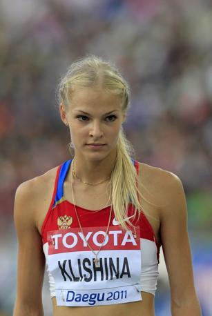 È giunta settima nella gara di salto in lungo Dariya Klishina, ma è stata votata al primo posto nel fascino mostrato in pedana (Ap/Lee Jin-man)